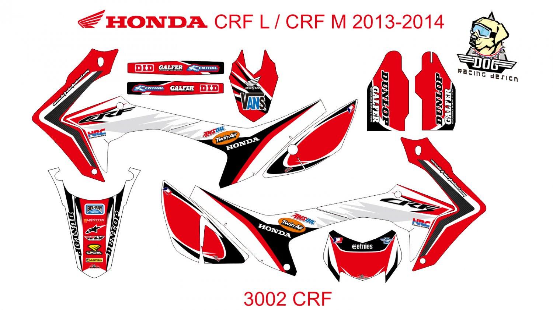 HONDA CRF L CRF M 2013-2014 GRAPHIC DECAL KIT CODE.3002