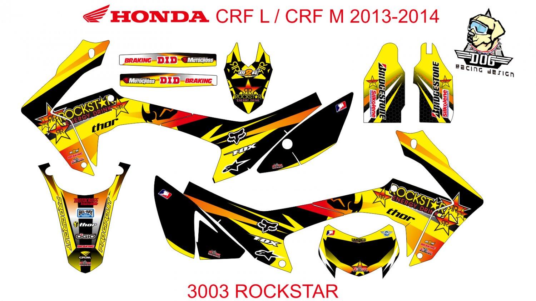 HONDA CRF L CRF M 2013-2014 GRAPHIC DECAL KIT CODE.3003