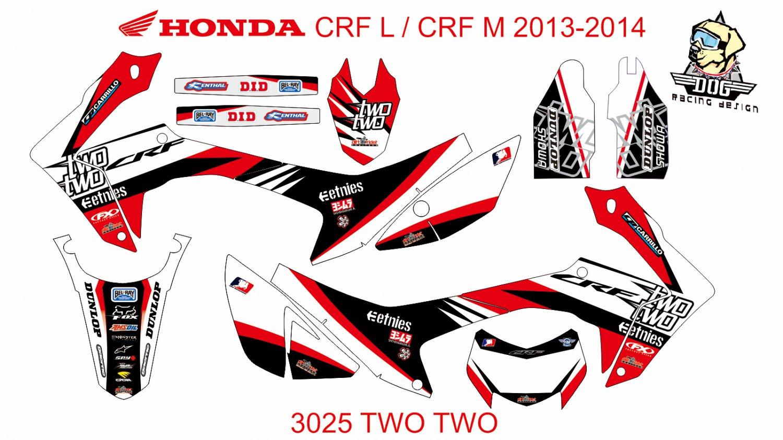 HONDA CRF L CRF M 2013-2014 GRAPHIC DECAL KIT CODE.3025