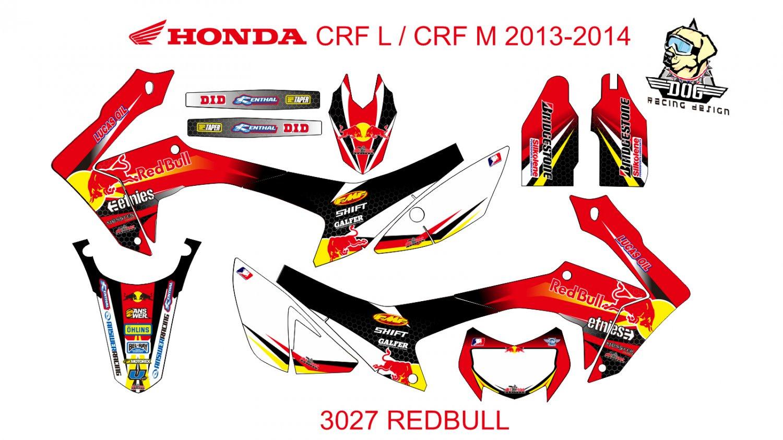 HONDA CRF L CRF M 2013-2014 GRAPHIC DECAL KIT CODE.3027