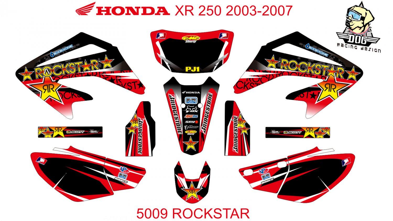 HONDA XR 250 2003-2007 GRAPHIC DECAL KIT CODE.5009