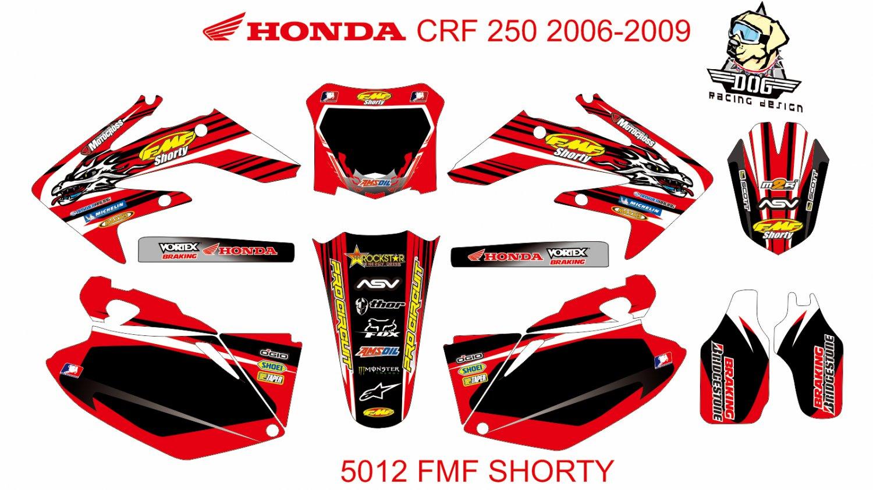 HONDA CRF 250 2006-2009 GRAPHIC DECAL KIT CODE.5012