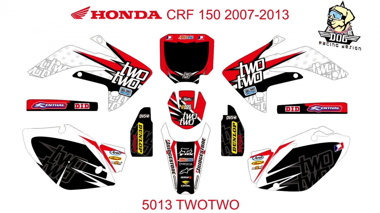 HONDA CRF 150 2007-2013 GRAPHIC DECAL KIT CODE.5013