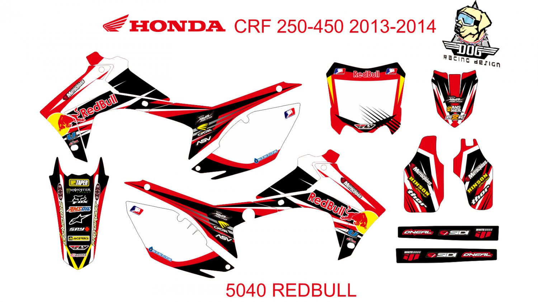 HONDA CRF 250-450 2013-2014 GRAPHIC DECAL KIT CODE.5040