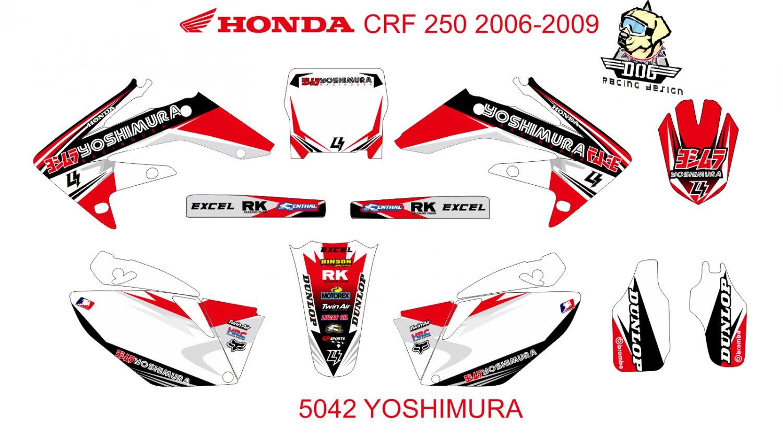 HONDA CRF 250 2006-2009 GRAPHIC DECAL KIT CODE.5042