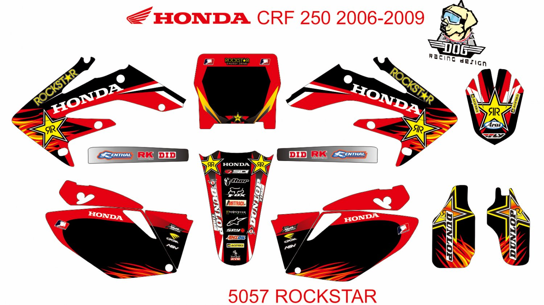 HONDA CRF 250 2006-2009 GRAPHIC DECAL KIT CODE.5057
