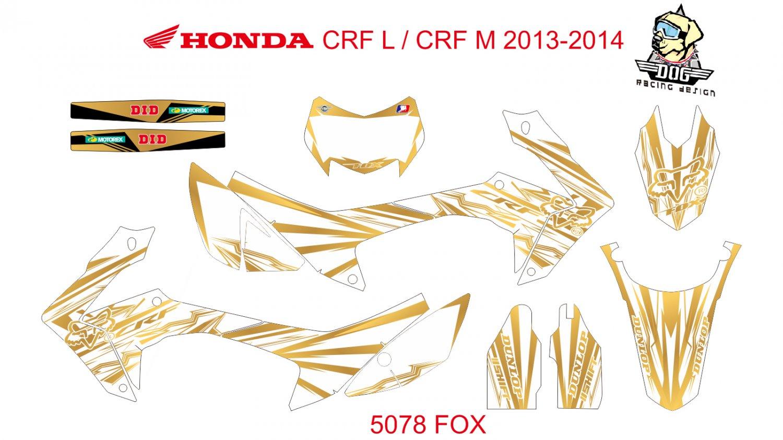HONDA CRF L CRF M 2013-2014 GRAPHIC DECAL KIT CODE.5078