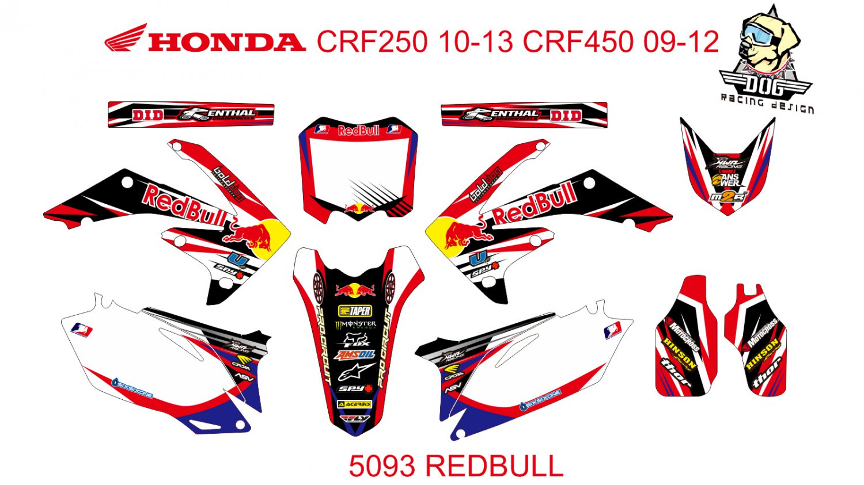 HONDA CRF 250 2010-2013 CRF 450 2009-2012 GRAPHIC DECAL KIT CODE.5093