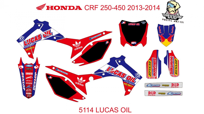 HONDA CRF 250-450 2013-2014 GRAPHIC DECAL KIT CODE.5114