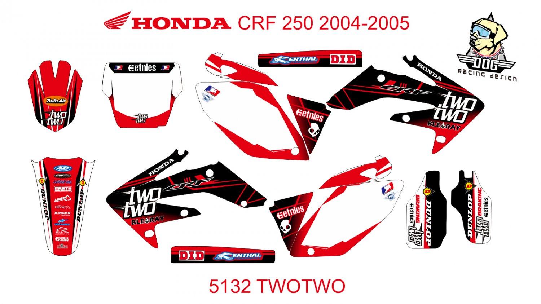 HONDA CRF 250 2004-2005 GRAPHIC DECAL KIT CODE.5132