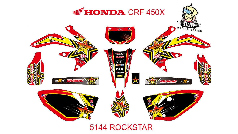 HONDA CRF 450X GRAPHIC DECAL KIT CODE.5144