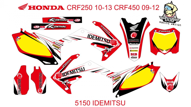 HONDA CRF 250 2010-2013 CRF 450 2009-2012 GRAPHIC DECAL KIT CODE.5150