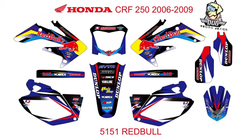 HONDA CRF 250 2006-2009 GRAPHIC DECAL KIT CODE.5151