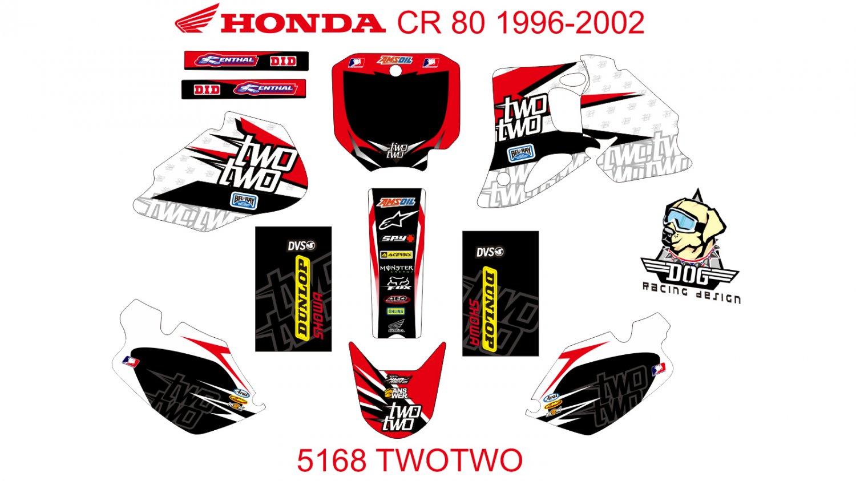 HONDA CR 80 1996-2002 GRAPHIC DECAL KIT CODE.5168