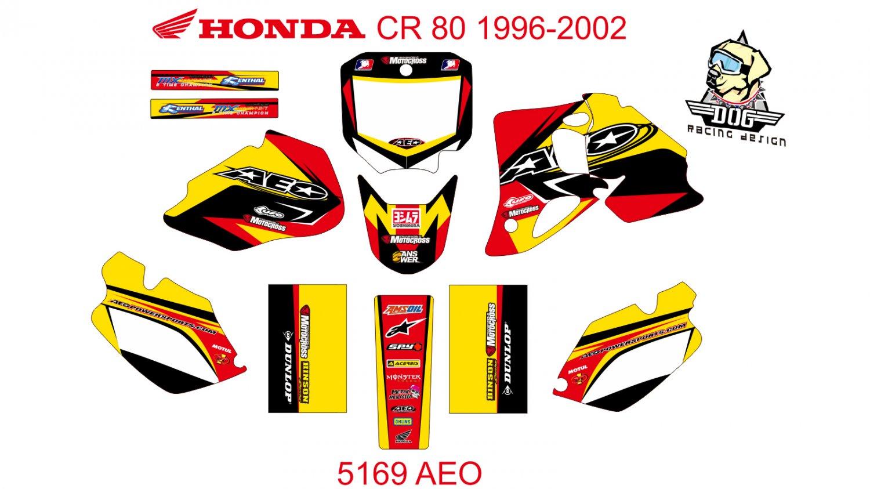 HONDA CR 80 1996-2002 GRAPHIC DECAL KIT CODE.5169