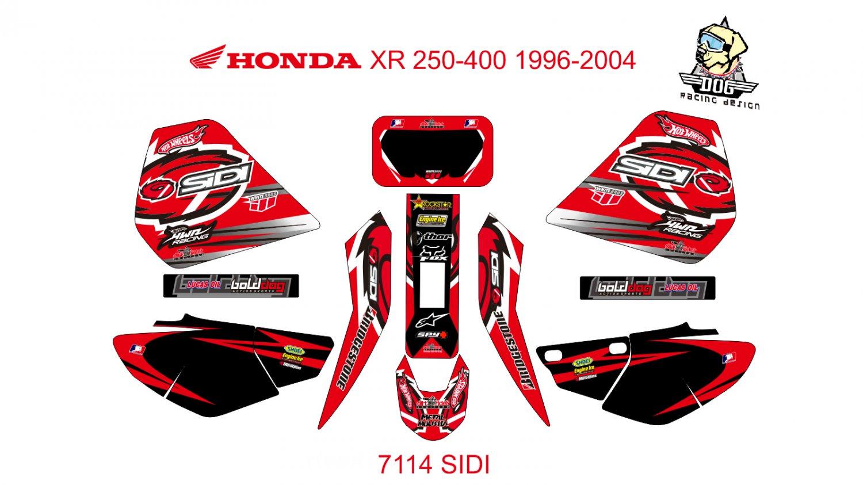 HONDA XR 250-400 1996-2004 GRAPHIC DECAL KIT CODE.7114