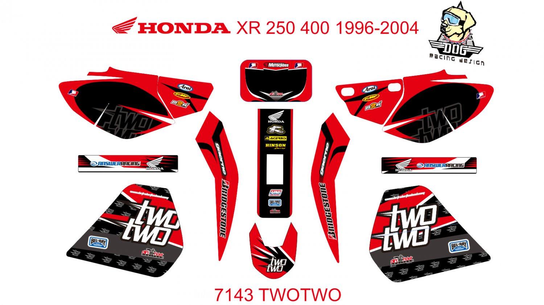 HONDA XR 250-400 1996-2004 GRAPHIC DECAL KIT CODE.7143