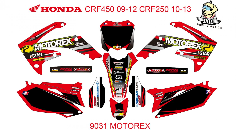 HONDA CRF 450 2009-2012 CRF 250 2010-2013 DECAL KIT CODE.9031