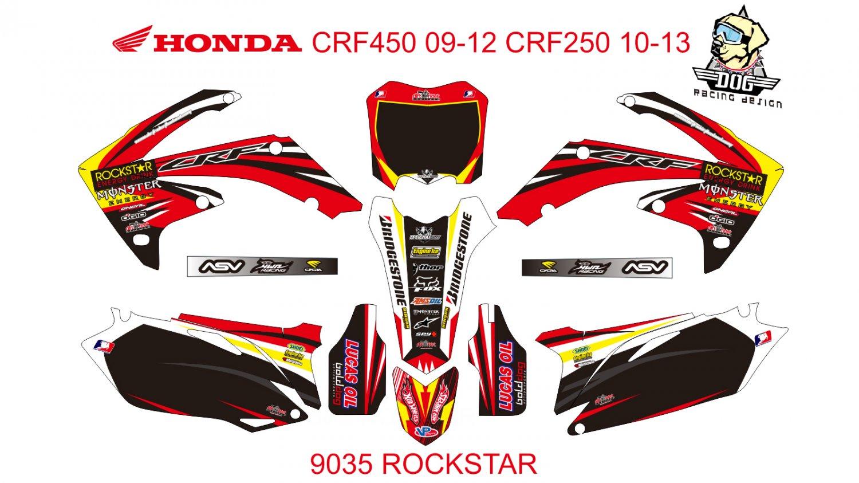 HONDA CRF 450 2009-2012 CRF 250 2010-2013 DECAL KIT CODE.9035