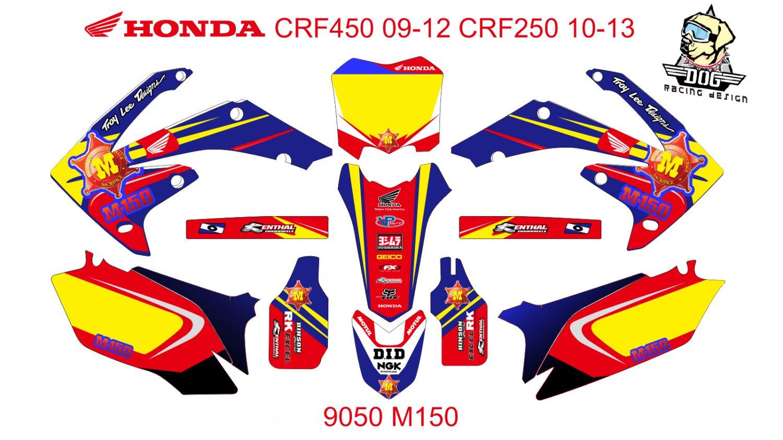 HONDA CRF 450 2009-2012 CRF 250 2010-2013 DECAL KIT CODE.9050