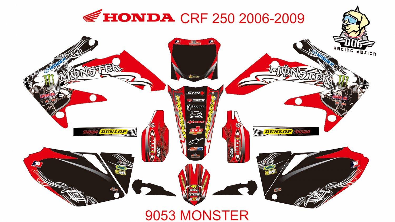 HONDA CRF 250 2006-2009 DECAL KIT CODE.9053