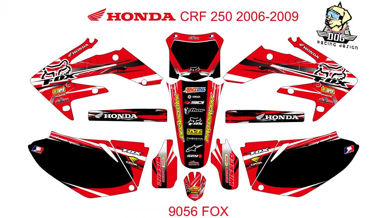HONDA CRF 250 2006-2009 GRAPHIC DECAL KIT CODE.9056