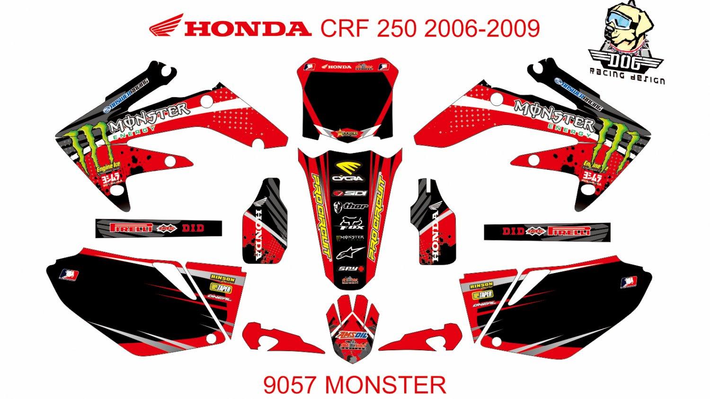 HONDA CRF 250 2006-2009 GRAPHIC DECAL KIT CODE.9057