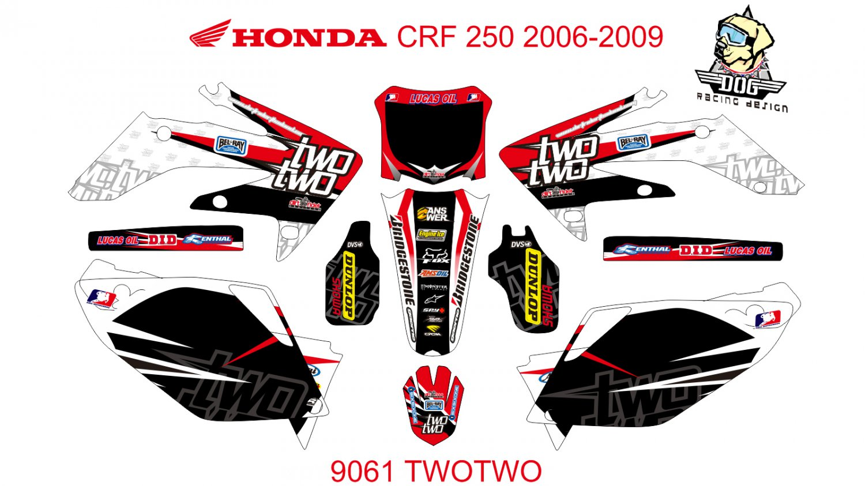 HONDA CRF 250 2006-2009 GRAPHIC DECAL KIT CODE.9061