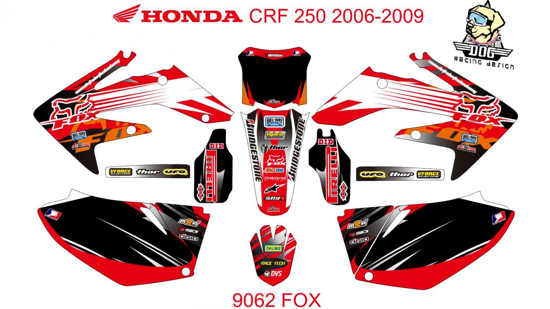 HONDA CRF 250 2006-2009 GRAPHIC DECAL KIT CODE.9062