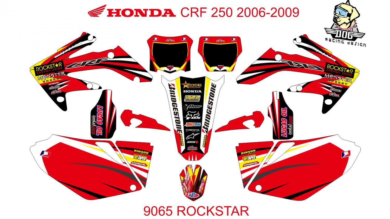 HONDA CRF 250 2006-2009 GRAPHIC DECAL KIT CODE.9065