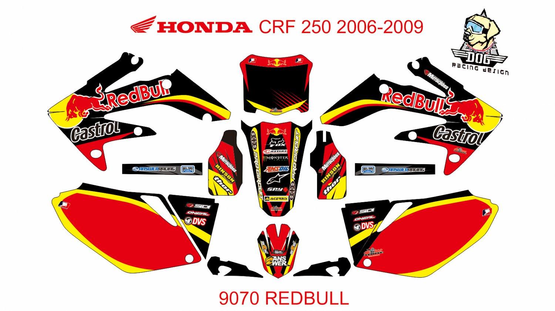 HONDA CRF 250 2006-2009 GRAPHIC DECAL KIT CODE.9070