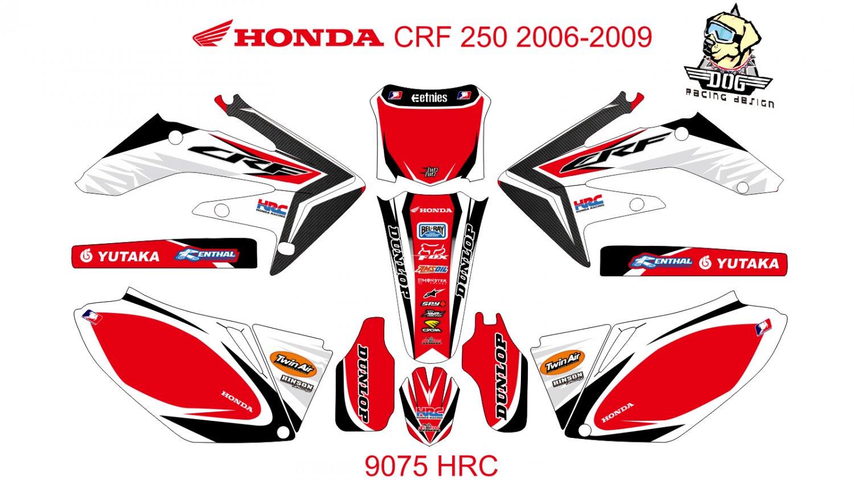 HONDA CRF 250 2006-2009 GRAPHIC DECAL KIT CODE.9075
