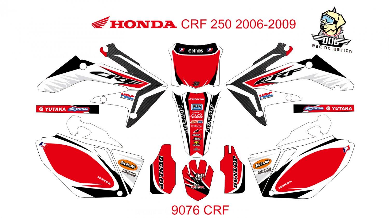 HONDA CRF 250 2006-2009 GRAPHIC DECAL KIT CODE.9076