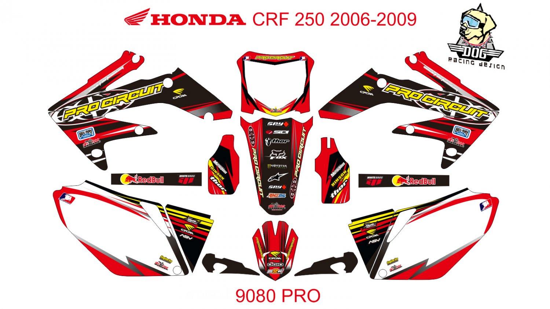 HONDA CRF 250 2006-2009 GRAPHIC DECAL KIT CODE.9080