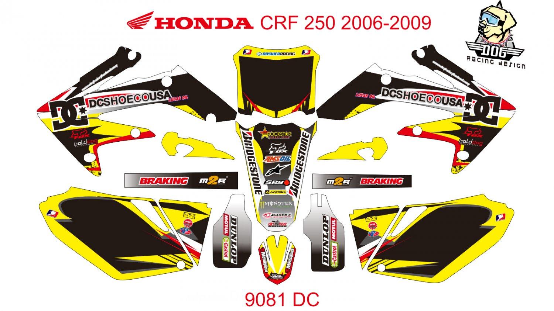 HONDA CRF 250 2006-2009 GRAPHIC DECAL KIT CODE.9081