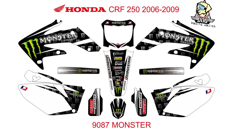 HONDA CRF 250 2006-2009 GRAPHIC DECAL KIT CODE.9087