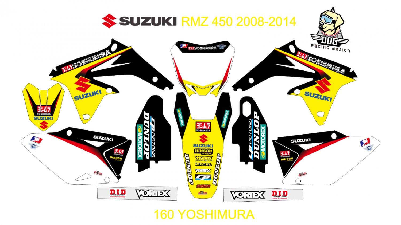 SUZUKI RMZ 450 2008-2014 GRAPHIC DECAL KIT CODE.160