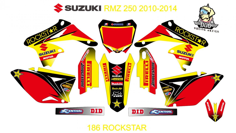 SUZUKI RMZ 250 2010-2014 GRAPHIC DECAL KIT CODE.186