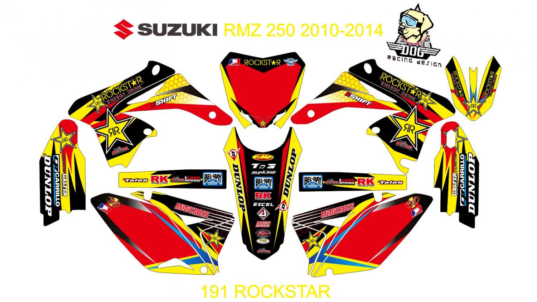 SUZUKI RMZ 250 2010-2014 GRAPHIC DECAL KIT CODE.191