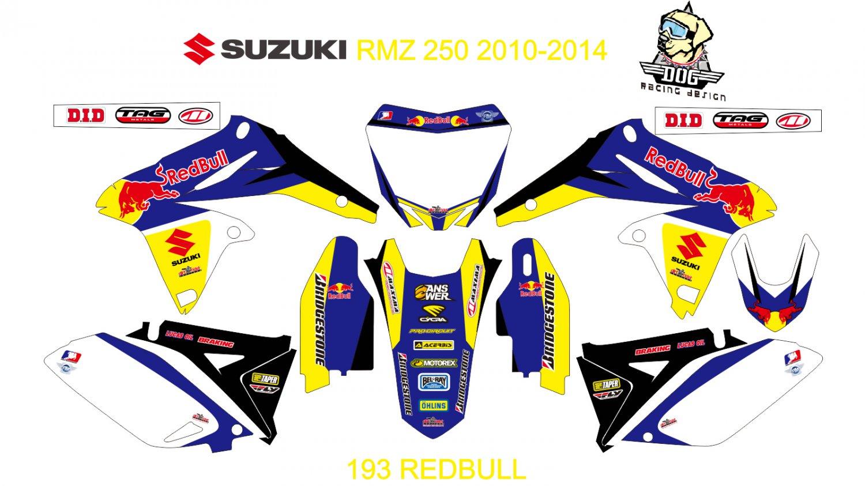 SUZUKI RMZ 250 2010-2014 GRAPHIC DECAL KIT CODE.193