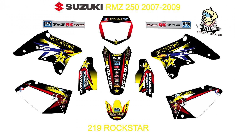 SUZUKI RMZ 250 2007-2009 GRAPHIC DECAL KIT CODE.219