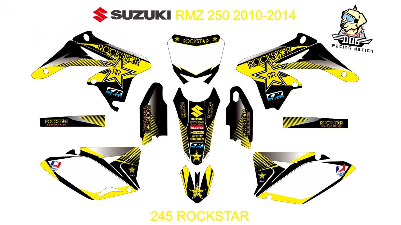 SUZUKI RMZ 250 2010-2014 GRAPHIC DECAL KIT CODE.245