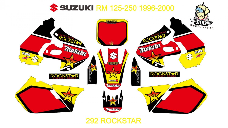 SUZUKI RM 125-250 1996-2000 GRAPHIC DECAL KIT CODE.292