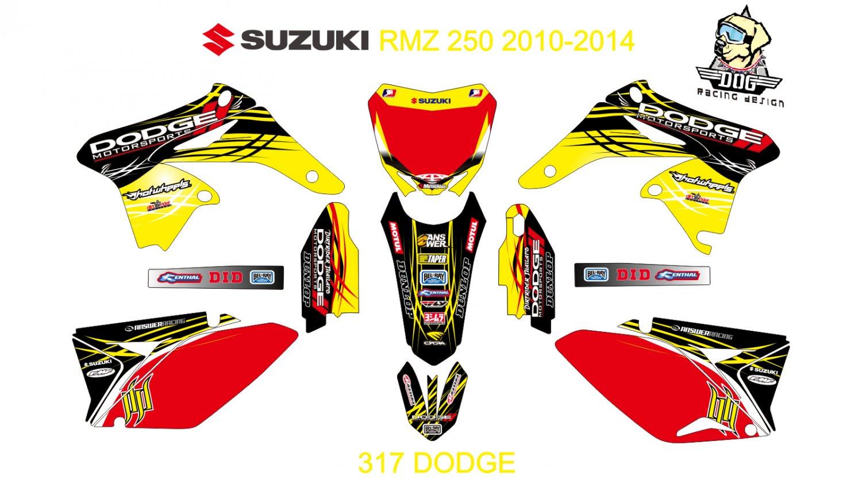 SUZUKI RMZ 250 2010-2014 GRAPHIC DECAL KIT CODE.317