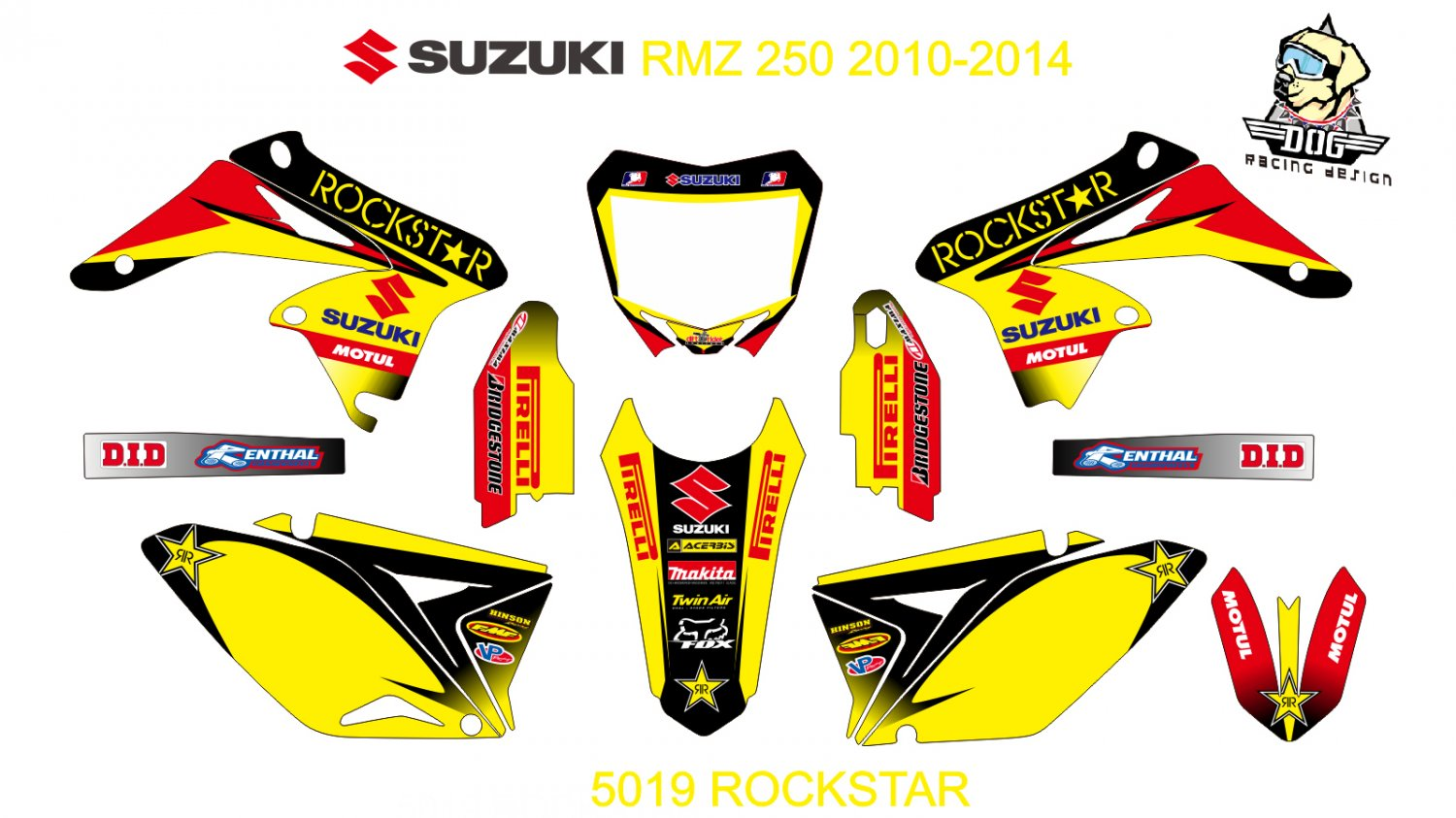 SUZUKI RMZ 250 2010-2014 GRAPHIC DECAL KIT CODE.5019