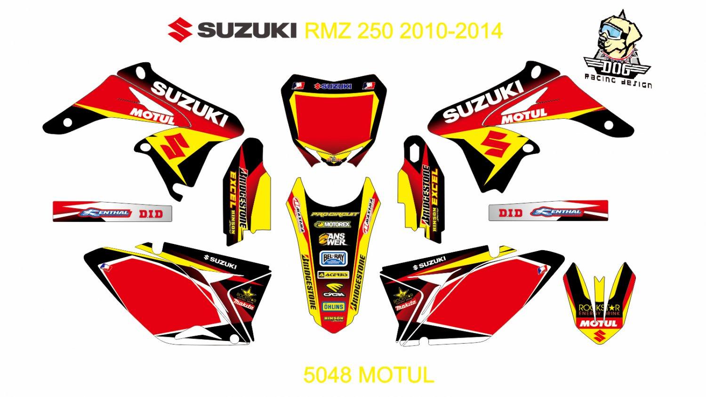 SUZUKI RMZ 250 2010-2014 GRAPHIC DECAL KIT CODE.5048