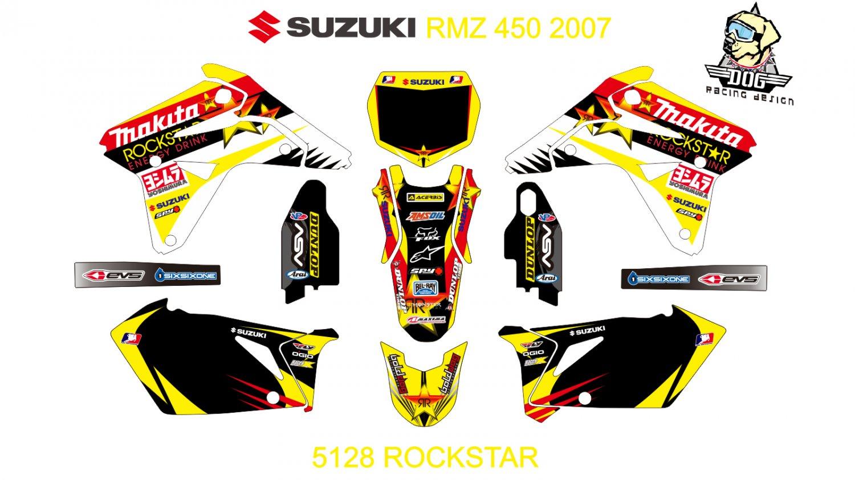 SUZUKI RMZ 450 2007 GRAPHIC DECAL KIT CODE.5128