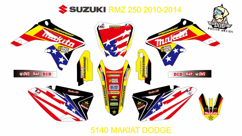 SUZUKI RMZ 250 2010-2014 GRAPHIC DECAL KIT CODE.5140