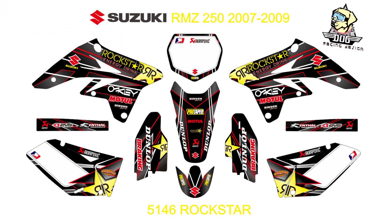SUZUKI RMZ 250 2007-2009 GRAPHIC DECAL KIT CODE.5146