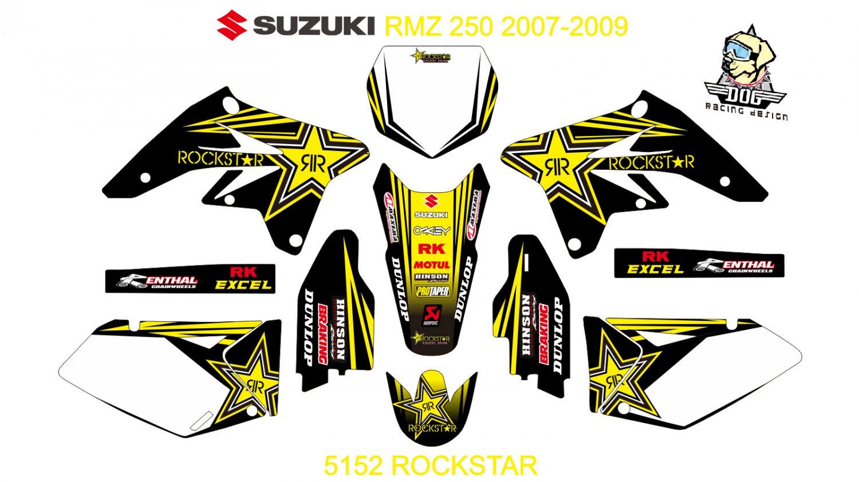 SUZUKI RMZ 250 2007-2009 GRAPHIC DECAL KIT CODE.5152